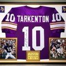 Premium Framed Fran Tarkenton Autographed / Signed Vikings Jersey JSA COA