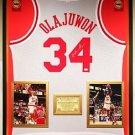 Premium Framed Hakeem Olajuwon Autographed Houston Rockets Jersey - JSA COA