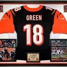Premium Framed AJ Green Autographed Nike Elite Bengals Jersey - JSA COA - A.J.