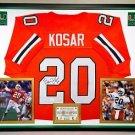 Premium Framed Bernie Kosar Autographed / Signed Miami Hurricanes Jersey JSA COA - browns