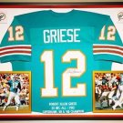 Premium Framed Bob Griese Autographed Miami Dolphins Jersey - JSA COA