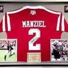 Premium Framed Johnny Manziel Signed / Autographed Adidas Texas A&M Aggies Jersey PSA/DNA