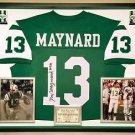 Premium Framed Don Maynard Autographed New York Jets Jersey - JSA COA