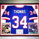 Premium Framed Thurman Thomas Signed / Autographed Buffalo Bills Jersey - Schwartz COA