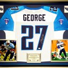 Premium Framed Eddie George Autographed / Signed Titans Jersey - JSA COA - ohio state