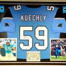 Premium Framed Luke Kuechly Autographed Panthers Jersey - GA COA