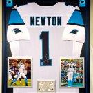 Premium Framed Cam Newton Autographed Carolina Panthers Jersey - GTSM COA