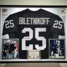 Premium Framed Fred Biletnikoff Autographed Oakland Raiders Jersey - GTSM COA