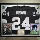 Premium Framed Willie Brown Autographed Oakland Raiders Jersey - Sports Integrity COA