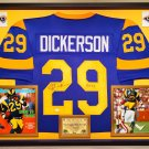 Premium Framed Eric Dickerson Autographed Los Angeles Rams Jersey - JSA COA