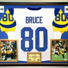 Premium Framed Isaac Bruce Autographed Rams Jersey - GTSM COA