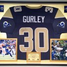 Premium Framed Todd Gurley Autographed Rams Jersey - GA COA