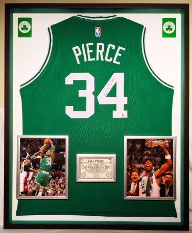 Premium Framed Autographed Paul Pierce Boston Celtics Jersey - GA COA
