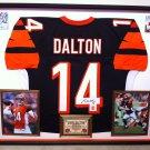 Premium Framed Andy Dalton Autographed Bengals Jersey - GTSM COA