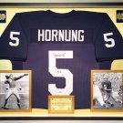 Premium Framed Paul Hornung Autographed Notre Dame Jersey - Schwartz COA - Packers
