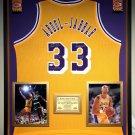 Premium Framed Autographed Kareem Abdul-Jabbar Lakers Jersey - GA COA - Abdul Jabbar