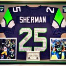 Premium Framed Richard Sherman Autographed Seattle Seahawks Jersey - PAAS COA