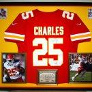 Premium Framed Jamaal Charles Autographed Kansas City Chiefs Nike Jersey - GA COA