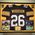 Premium Framed Rod Woodson Autographed Steelers Jersey - GA COA