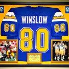Premium Framed Kellen Winslow Autographed San Diego Chargers Jersey - Schwartz COA
