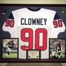 Premium Framed Jadeveon Clowney Autographed Houston Texans Jersey - GA COA - JJ Watt