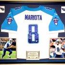 Premium Framed Marcus Mariota Autographed Titans Official Nike Elite Jersey - GA COA