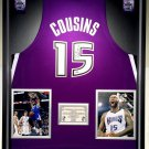 Premium Framed Demarcus Cousins Autographed Sacramento Kings Jersey - MCA COA