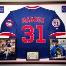 Premium Framed Greg Maddux Autographed Majestic Chicago Cubs Jersey - GA COA
