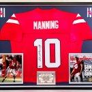 Premium Framed Eli Manning Autographed Mississippi Ole Miss Nike Jersey - UAI Authenticated