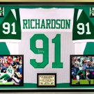 Premium Framed Sheldon Richardson Autographed New York Jets Jersey - Leaf COA
