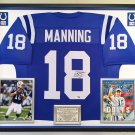 Premium Framed Peyton Manning Autographed / Signed Indianapolis Colts Jersey - GA COA