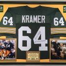 Premium Framed Jerry Kramer Autographed / Signed Inscribed Packers Jersey  - Schwartz COA