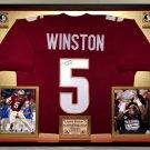 Premium Framed Jameis Winston Autographed Florida State Seminoles Jersey JSA COA