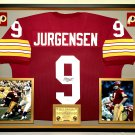 Premium Framed Sonny Jurgensen Autographed / Signed Washington Redskins Jersey JSA COA