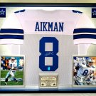 Premium Framed Troy Aikman Autographed Dallas Cowboys Jersey - GTSM Official Aikman Hologram