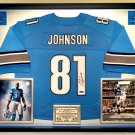 Premium Framed Calvin Johnson Autographed Detroit Lions Official Nike Jersey - AAA COA