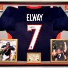 Premium Framed John Elway Autographed Denver Broncos Jersey - Official Elway Hologram