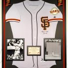 Premium Framed Willie Mays Autographed / Signed Majestic Giants Jersey - Say Hey Hologram