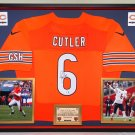 Premium Framed Jay Cutler Autographed / Signed Chicago Bears Nike Jersey - GA COA
