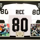 Premium Framed Jerry Rice Signed Oakland Raiders Jersey - AAA Authenticated