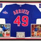 Premium Framed Jake Arrieta Autographed / Signed Chicago Cubs Jersey - GA COA
