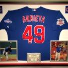 Premium Framed Jake Arrieta Autographed Majestic Chicago Cubs Jersey - GA COA