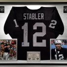 Premium Framed Ken Stabler Autographed Official Wilson NFL Raiders Jersey - Schwartz Authenrticated
