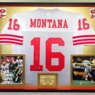 Premium Framed Joe Montana Autographed Official Mitchell & Ness 49ers Jersey - Mounted Memories