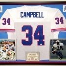 Premium Framed Earl Campbell Autographed / Signed Houston Oilers Mitchell & Ness Jersey - JSA COA