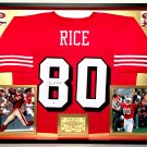 Premium Framed Jerry Rice Autographed / Signed San Francisco 49ers Jersey - PSA COA