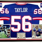 Premium Framed Lawrence Taylor Autographed Giants Jersey - JSA COA