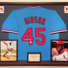 Premium Framed Bob Gibson Autographed / Signed St. Louis Cardinals Jersey - JSA COA
