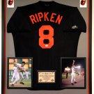 Premium Framed Cal Ripken Jr. Autographed / Signed Baltimore Orioles Majestic Jersey - JSA COA