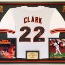 Premium Framed Will Clark Autographed / Signed San Francisco Giants Jersey - PSA COA